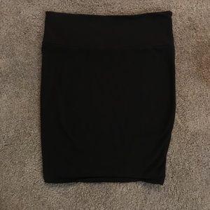 TORRID Foldover skirt in black SIZE 1